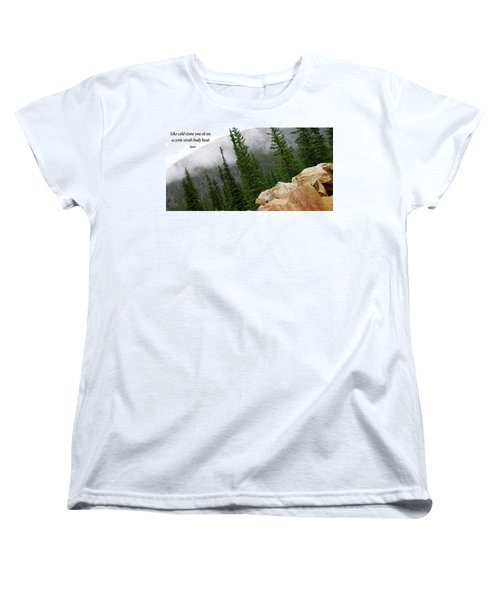 Women's T-Shirt (Standard Cut) featuring the photograph Food For Thought by Rhonda McDougall