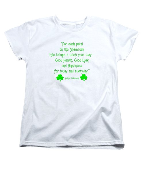 For Each Petal On The Shamrock Women's T-Shirt (Standard Cut)