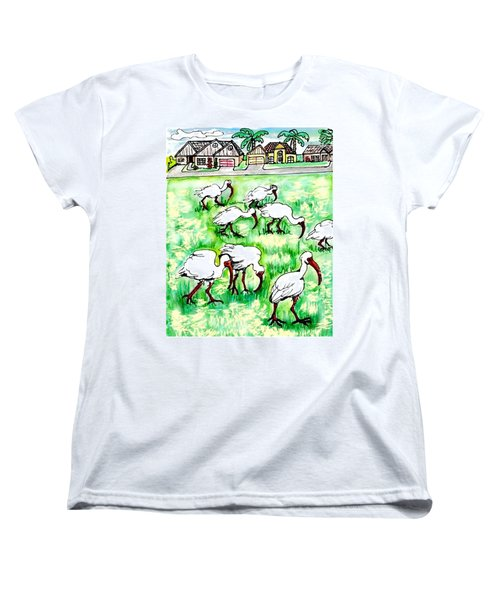 Foraging Ibis Women's T-Shirt (Standard Cut)