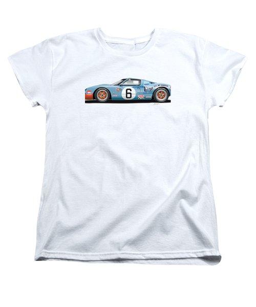 Ford Gt 40 1969 Women's T-Shirt (Standard Cut) by Alain Jamar