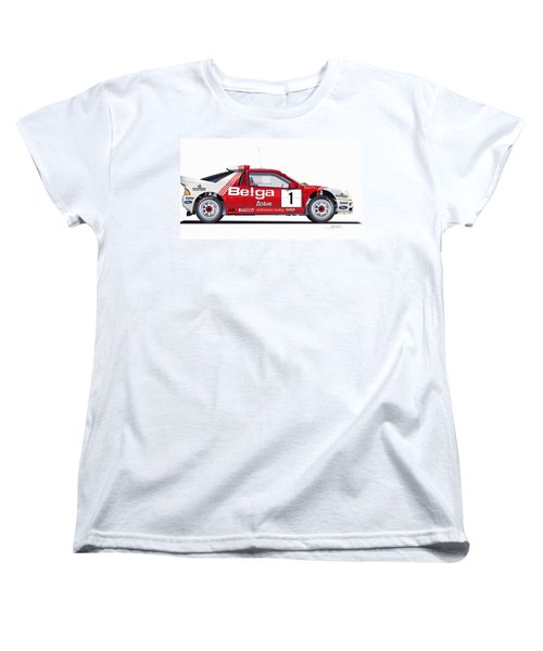 Ford Rs 200 Belga Team Illustration Women's T-Shirt (Standard Cut) by Alain Jamar