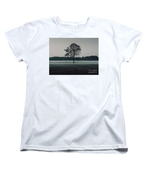 Women's T-Shirt (Standard Cut) featuring the photograph Forest Fog by MGL Meiklejohn Graphics Licensing