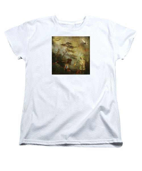 Forest Wonderland Women's T-Shirt (Standard Cut) by Diana Boyd