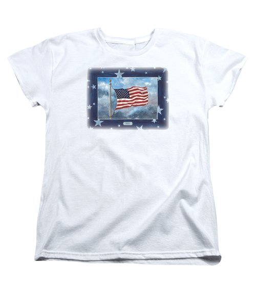 Forever Old Glory  Women's T-Shirt (Standard Cut) by Herb Strobino