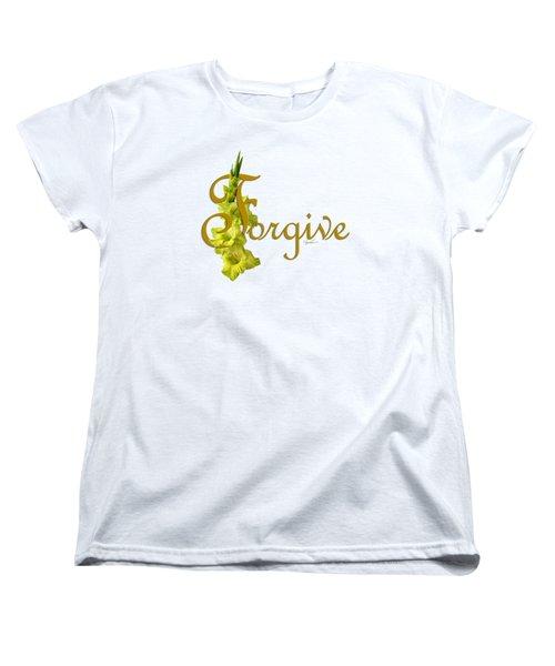 Women's T-Shirt (Standard Cut) featuring the digital art Forgive by Ann Lauwers