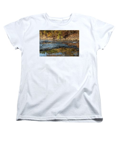 Women's T-Shirt (Standard Cut) featuring the photograph Fork River Reflection In Fall by Iris Greenwell