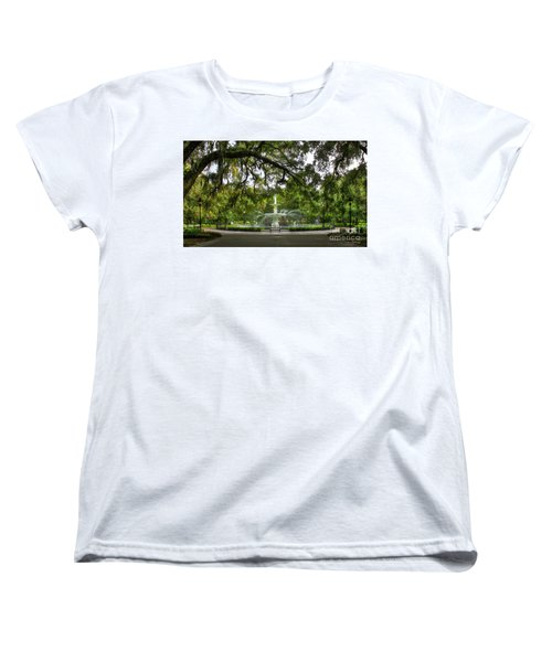 Forsyth Park Fountain Historic Savannah Georgia Women's T-Shirt (Standard Cut) by Reid Callaway