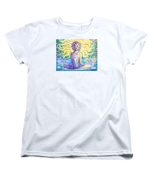 Women's T-Shirt (Standard Cut) featuring the painting Fountain Of Youth by Anya Heller