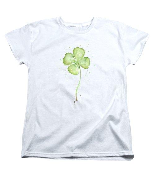 Four Leaf Clover Lucky Charm Women's T-Shirt (Standard Fit)