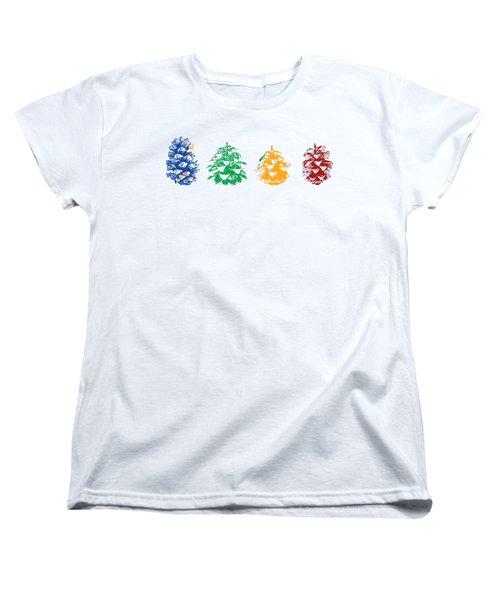 Four Pine Cones Women's T-Shirt (Standard Cut)