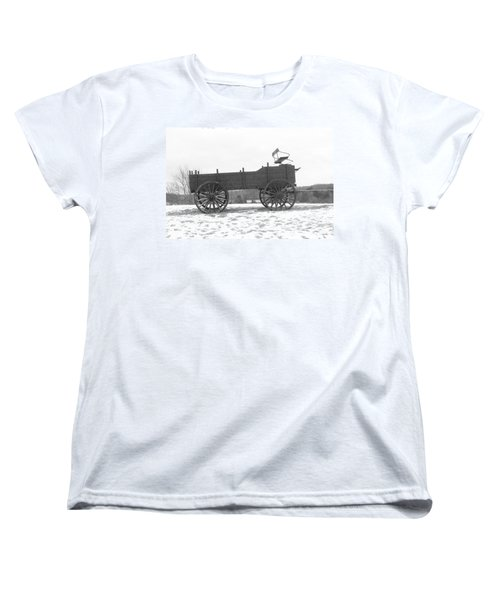 Women's T-Shirt (Standard Cut) featuring the digital art Four Wheel Drive by Barbara S Nickerson