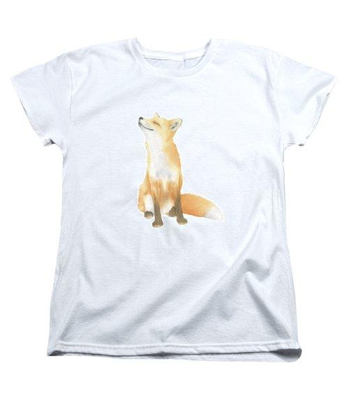 Fox Watercolor Women's T-Shirt (Standard Cut) by Taylan Apukovska