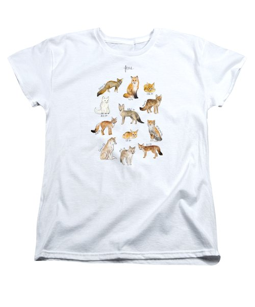 Foxes Women's T-Shirt (Standard Cut) by Amy Hamilton
