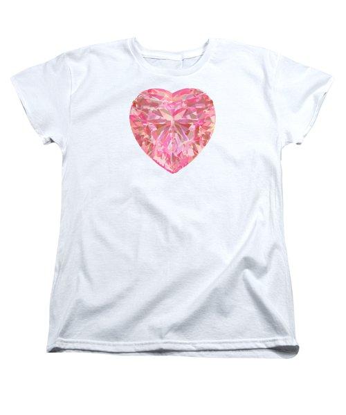 Fracked Heart Women's T-Shirt (Standard Cut) by Stan  Magnan