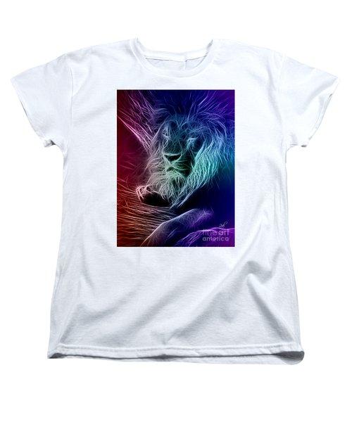 Fractalius Lion Women's T-Shirt (Standard Cut) by Zedi