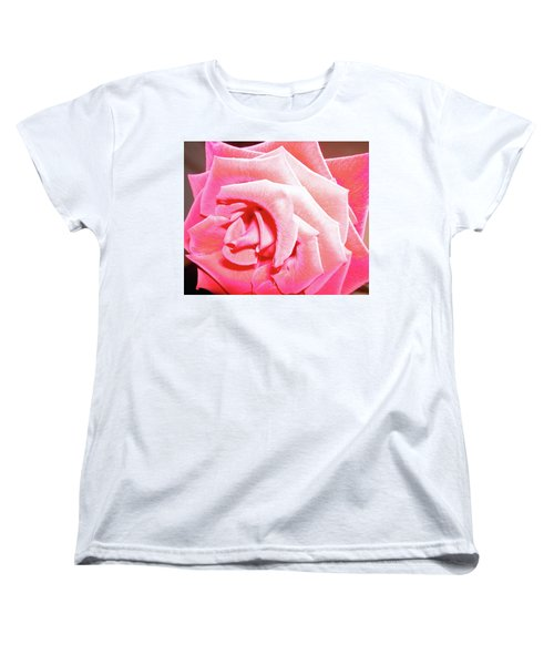 Women's T-Shirt (Standard Cut) featuring the photograph Fragrant Rose by Marie Hicks
