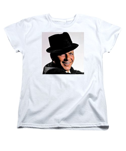Frank Sinatra Women's T-Shirt (Standard Cut) by Rod Jellison