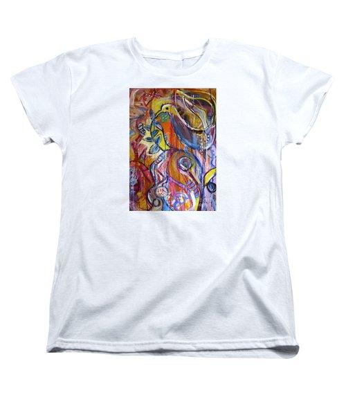 Free As A Bird  Women's T-Shirt (Standard Cut) by Corina  Stupu Thomas