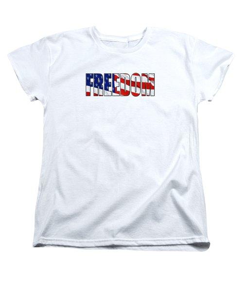 Freedom Women's T-Shirt (Standard Cut) by Phyllis Denton