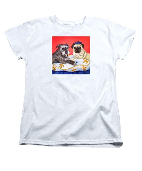 Women's T-Shirt (Standard Cut) featuring the painting French Friends by Laura Aceto