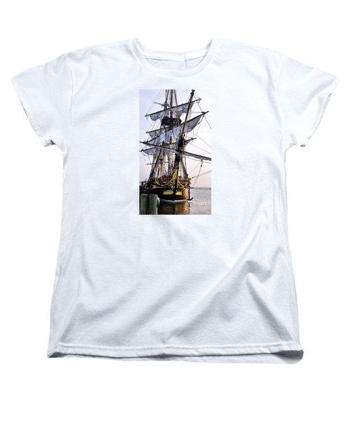 French Tall Ship Hermione  Women's T-Shirt (Standard Cut) by John S
