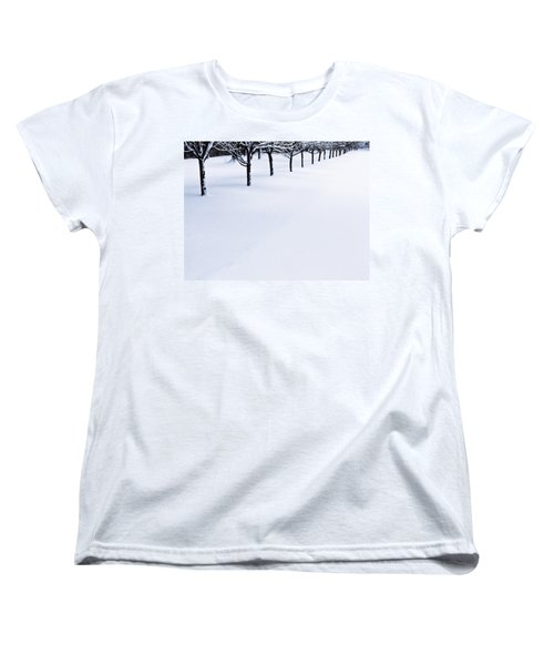Fresh Snow Women's T-Shirt (Standard Cut) by John Hansen