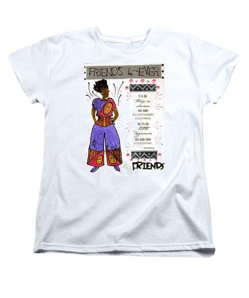 Friends 4ever Women's T-Shirt (Standard Cut) by Angela L Walker