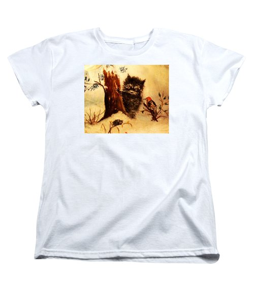 Women's T-Shirt (Standard Cut) featuring the painting Friends Forever by Hazel Holland