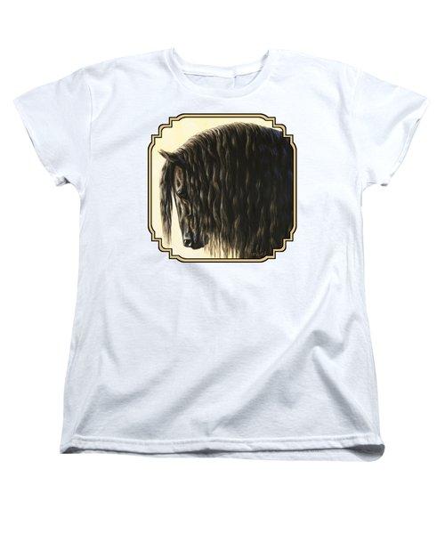 Friesian Horse Phone Case Women's T-Shirt (Standard Fit)