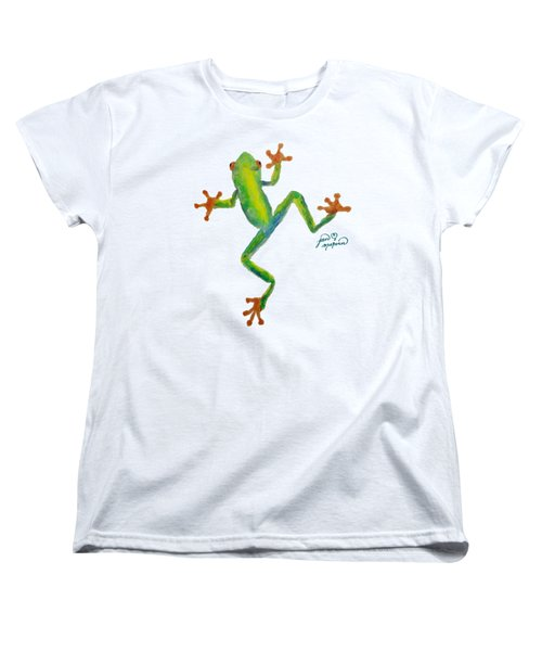 Red Eyed Tree Frog By Jan Marvin Women's T-Shirt (Standard Cut) by Jan Marvin