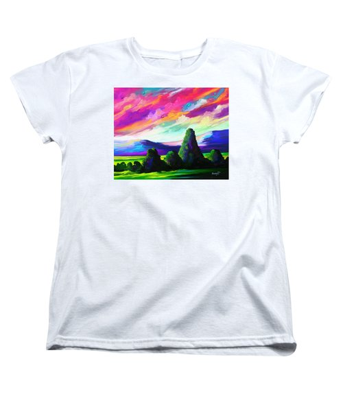 Women's T-Shirt (Standard Cut) featuring the painting From A Distance by Anthony Mwangi