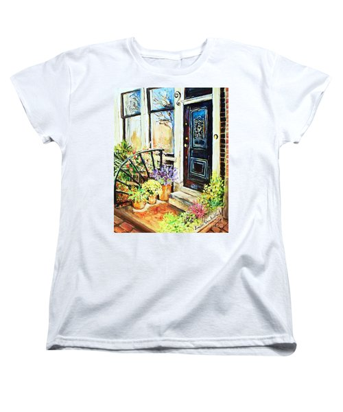Front Porch Women's T-Shirt (Standard Cut) by Linda Shackelford
