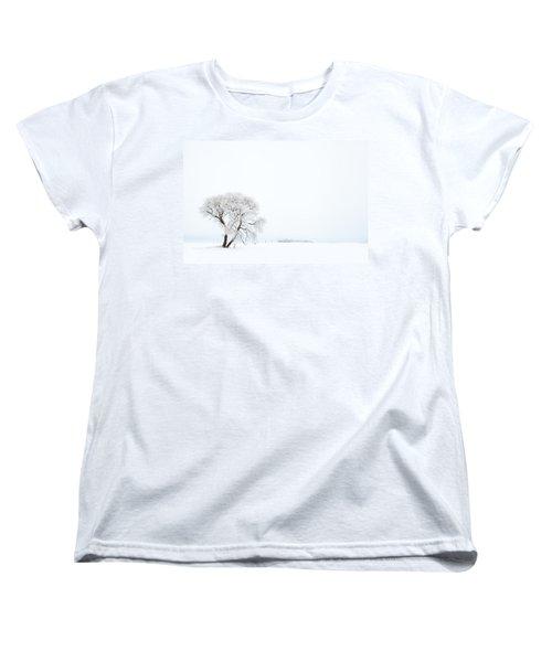 Frozen Morning Women's T-Shirt (Standard Cut) by Yvette Van Teeffelen
