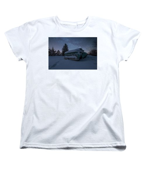 Women's T-Shirt (Standard Cut) featuring the photograph Frozen Rust  by Aaron J Groen