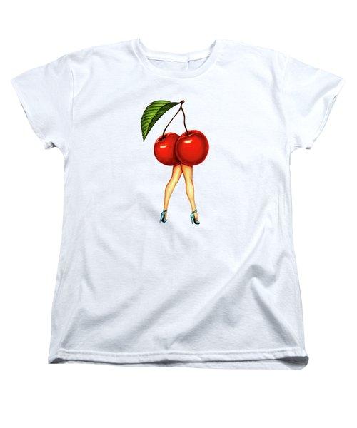Fruit Stand- Cherry Women's T-Shirt (Standard Cut) by Kelly Gilleran