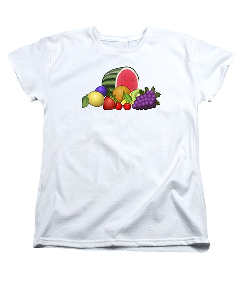 Fruits Heap Women's T-Shirt (Standard Cut) by Miroslav Nemecek