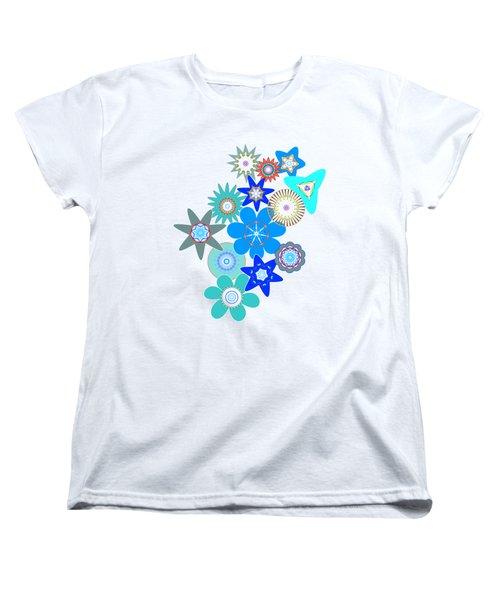 Funky Flower Pattern Women's T-Shirt (Standard Cut) by Methune Hively