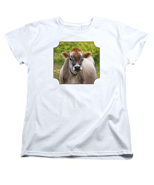 Funny Jersey Cow -square Women's T-Shirt (Standard Cut) by Gill Billington