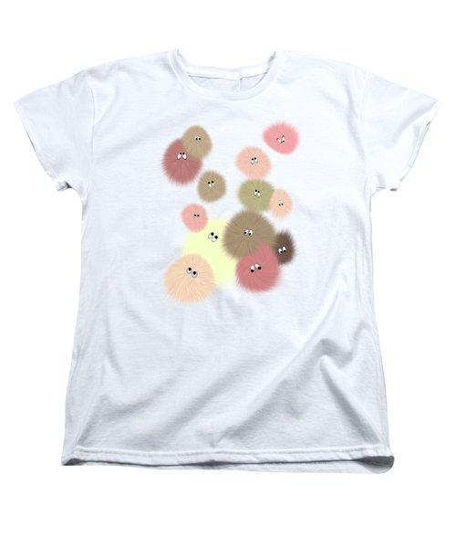 Women's T-Shirt (Standard Cut) featuring the digital art Fuzz Balls by Methune Hively