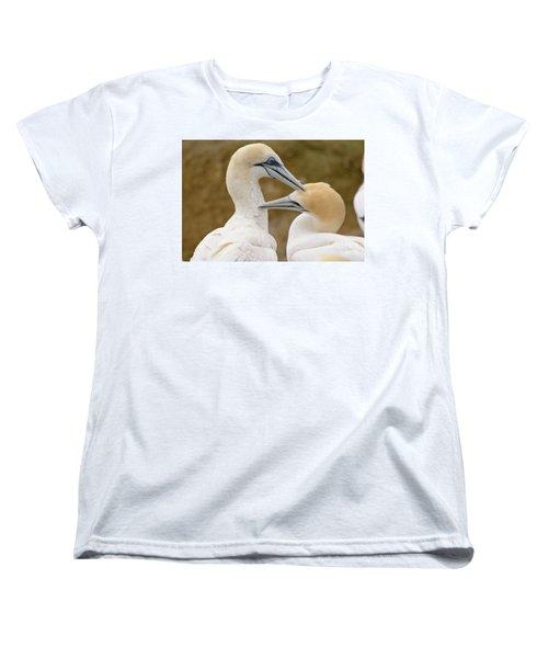 Women's T-Shirt (Standard Cut) featuring the photograph Gannet Pair 1 by Werner Padarin