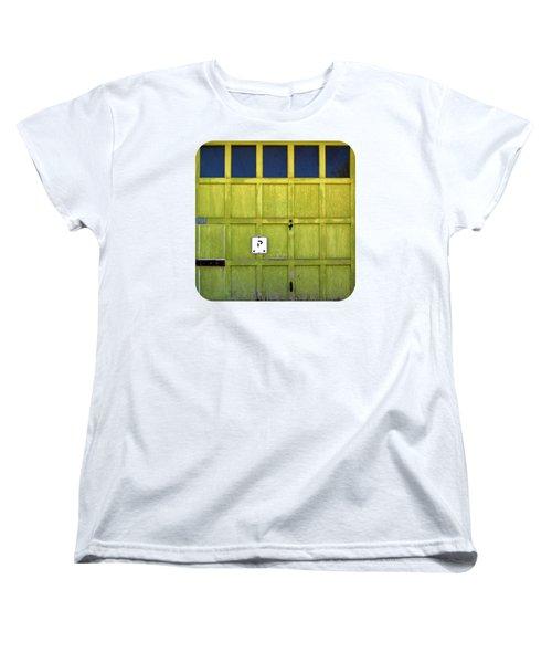 Women's T-Shirt (Standard Cut) featuring the photograph Garage Door by Ethna Gillespie