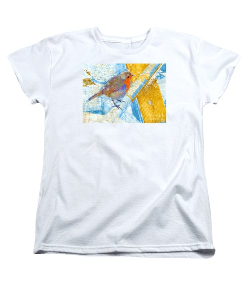 Women's T-Shirt (Standard Cut) featuring the photograph Garden Robin by LemonArt Photography