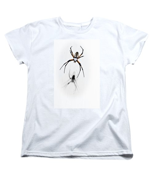 Women's T-Shirt (Standard Cut) featuring the photograph Garden Spider With Shadow by Tamyra Ayles