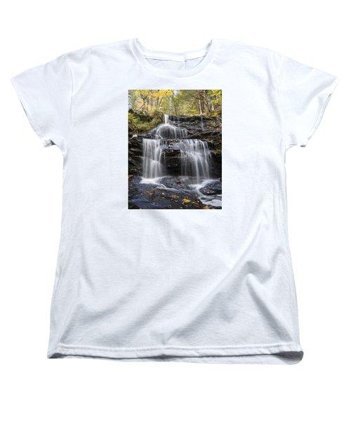 Women's T-Shirt (Standard Cut) featuring the photograph Garwin Falls, Wilton, Nh by Betty Denise