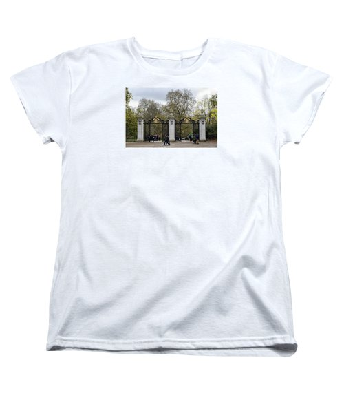 Women's T-Shirt (Standard Cut) featuring the photograph Gates To St James Park by Shirley Mitchell