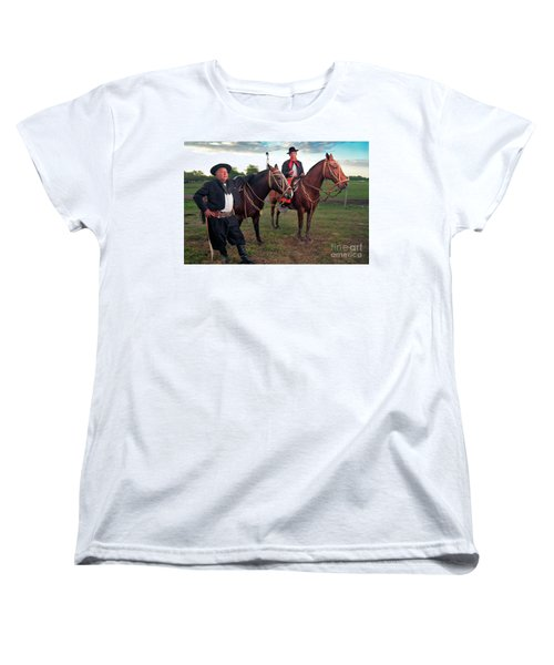 Women's T-Shirt (Standard Cut) featuring the photograph Gauchos by Bernardo Galmarini