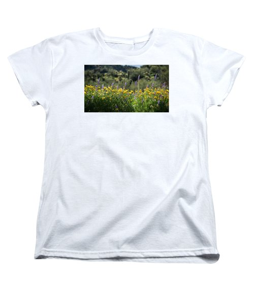 Women's T-Shirt (Standard Cut) featuring the photograph Gently Swaying In The Wind  by Saija Lehtonen