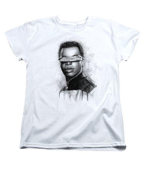 Geordi La Forge - Star Trek Art Women's T-Shirt (Standard Cut) by Olga Shvartsur