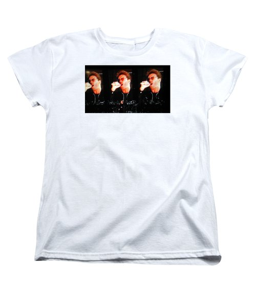 George Michael The Passionate Performer Women's T-Shirt (Standard Cut) by Toni Hopper