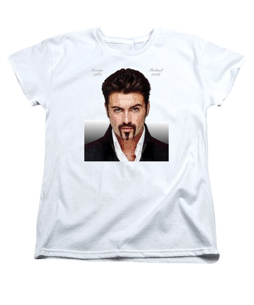 George Michael Tribute Women's T-Shirt (Standard Cut) by ISAW Gallery